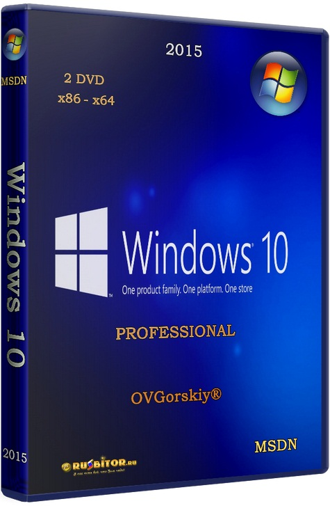 Windows 10 Professional [10.0 build 10240 (10.0.10240.16384 RTM)] [08.2015] by OVGorskiy