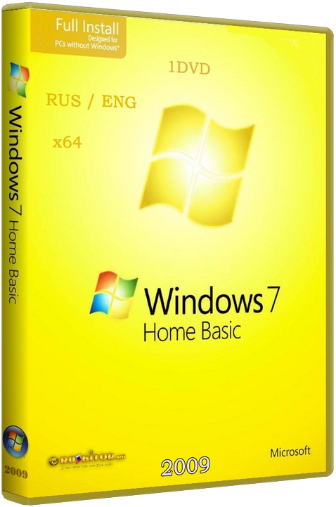 Windows 7 Home Basic OA CIS and GE. (Оригинальная версия) [6.1] [2009] [1/DVD]