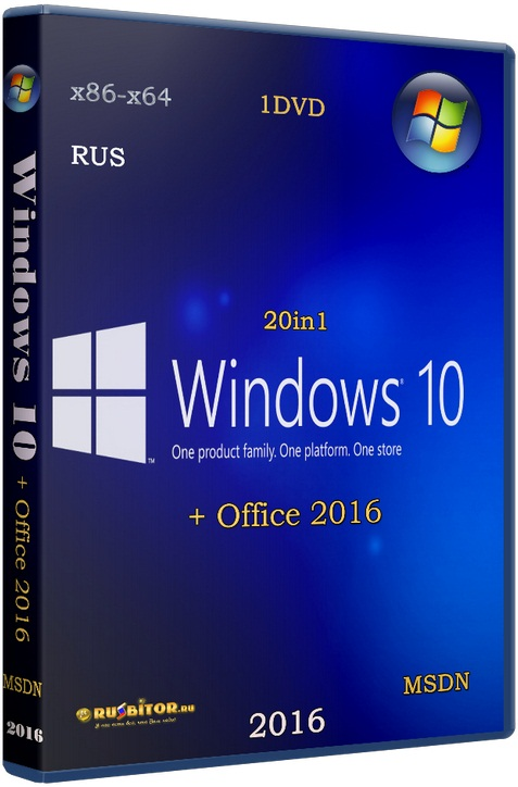 Windows 10 (x86/x64) + Office 2016 20in1 [10.02.16] [2016] [1DVD] by SmokieBlahBlah