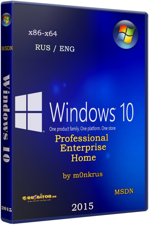 Windows 10 (v1511) RUS-ENG x86-x64 -20in1- KMS-activation (AIO) [v1511] [2016] [1DVD] by m0nkrus