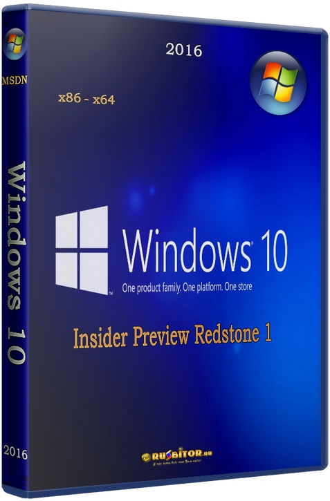 Microsoft Windows 10 Insider Preview Redstone 1 [build 10.0.14316.1000] [2016]