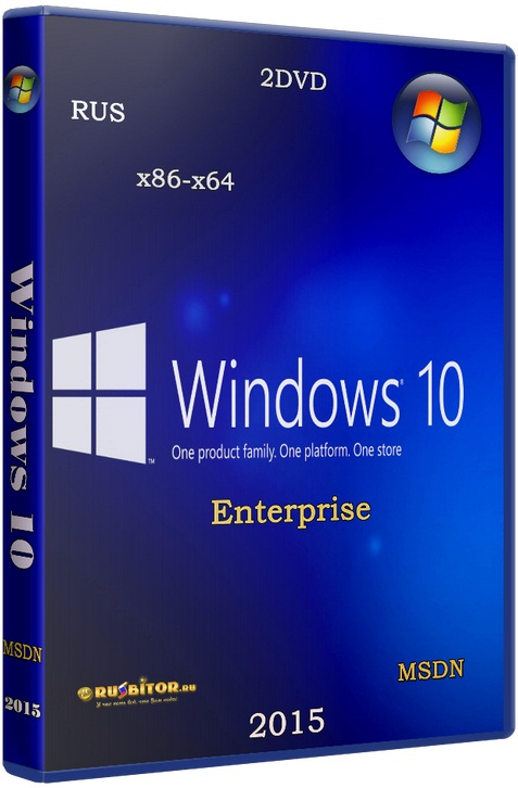 Microsoft Windows 10 Enterprise - Оригинальные образы от Microsoft VLSC [10.0.14393 Version 1607] [2016] [2DVD]