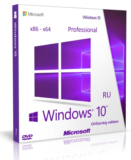 Windows 10 Professional [10.0 build 14393 Redstone Release (RS1) Version 1607 Anniversary Update RTM (10.0.14393.10).] [08.2016] [2DVD] by OVGorskiy