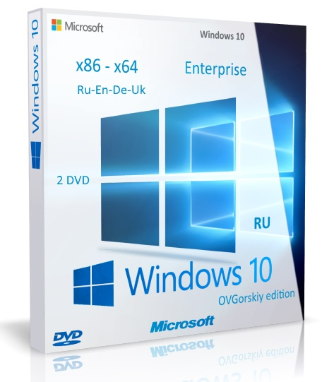 Windows 10 Enterprise [10.0 build 14393 Redstone Release (RS1) Version 1607 Anniversary Update RTM (10.0.14393.51).] [08.2016] [2DVD] by OVGorskiy
