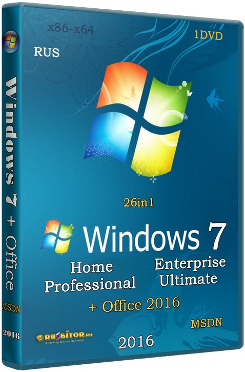 Windows 7 SP1 (x86/x64) 13in1 +/- Office 2016 [12.01.17] [2017] [1DVD] by SmokieBlahBlah