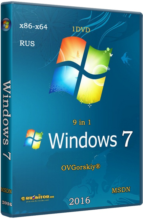 Microsoft Windows 7 Ultimate Ru x86/x64 nBook IE11 [6.1.7601.17514 Service Pack 1 Сборка 7601 / 03.2017] [2017] [1DVD] by OVGorskiy®