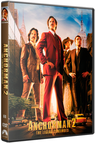 Телеведущий: И снова здравствуйте / Anchorman 2: The Legend Continues [2013 / комедия / HDRip] Dub (лицензия)